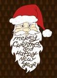 Retrato de Santa Claus With Greeting Text Fotos de archivo libres de regalías