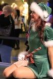 Retrato de Santa Girl feliz Fotos de archivo