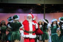Retrato de Santa Girls e de Santa felizes Imagens de Stock Royalty Free
