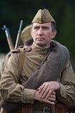 Retrato de soldados soviéticos da segunda guerra mundial Fotografia de Stock Royalty Free