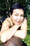 Retrato de sonhar a mulher fotos de stock royalty free