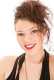 Retrato de sorriso atrativo da mulher Fotografia de Stock Royalty Free