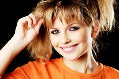 Retrato de sorriso da menina foto de stock royalty free