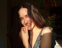 Retrato de sorriso da menina Fotografia de Stock