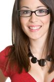 Retrato de sorriso da mulher Imagens de Stock Royalty Free