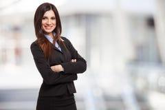 Retrato de sorriso da mulher de negócio imagem de stock royalty free