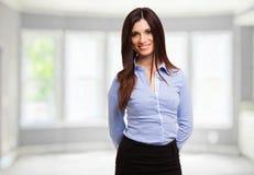 Retrato de sorriso da mulher de negócios foto de stock royalty free
