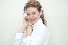 Retrato de sorriso da senhora nova do negócio Fotografia de Stock