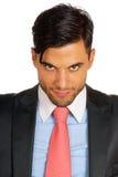 Retrato de sorriso do homem de negócio Imagens de Stock