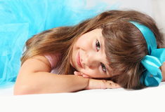 Retrato de sorriso muito agradável da menina Fotos de Stock Royalty Free