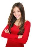 Retrato de sorriso mulher chinesa/caucasiano Fotografia de Stock Royalty Free