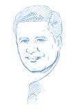 Retrato de Stephen Harper - versión del lápiz libre illustration