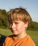 Retrato de sudar al muchacho después de deportes Imagen de archivo libre de regalías