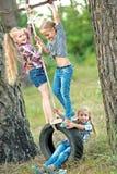Retrato de três meninas fotografia de stock royalty free