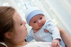 Retrato de três meses de bebê doce idoso Fotos de Stock Royalty Free