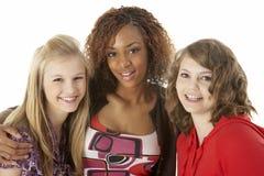 Retrato de tres adolescentes Imágenes de archivo libres de regalías