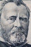 Retrato de Ulises S Retrato de Grant en cuenta de dólar de EE. UU. 50 fotografía de archivo