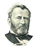 Retrato de Ulysses S Entalhe do retrato de Grant (trajeto de grampeamento) Fotos de Stock Royalty Free
