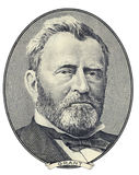 Retrato de Ulysses S. Grant imagem de stock royalty free