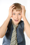 Retrato de um adolescente fotos de stock royalty free