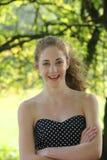 Retrato de um adolescente bonito imagens de stock