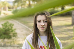 Retrato de um adolescente novo do adolescente de 15 anos Foto de Stock Royalty Free