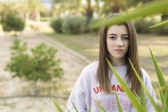 Retrato de um adolescente novo do adolescente de 15 anos Fotografia de Stock