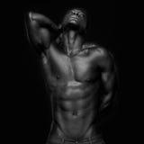 Americano africano que olha acima Imagem de Stock Royalty Free