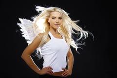 Retrato de um anjo bonito Imagem de Stock