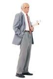 Retrato de um artista mais idoso com rolos de papel Foto de Stock Royalty Free