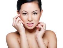 Retrato de um asian bonito foto de stock royalty free