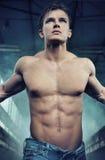 Retrato de um atleta atrativo Fotografia de Stock Royalty Free