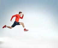 Retrato de um atleta novo ambicioso Imagem de Stock Royalty Free