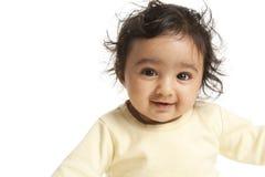 Retrato de um bebé de sorriso Fotografia de Stock