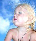 Retrato de um bebé pequeno Imagens de Stock