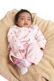 Retrato de um bebé recém-nascido Imagens de Stock Royalty Free