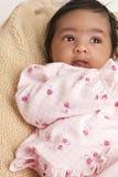 Retrato de um bebé recém-nascido Imagens de Stock