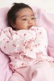 Retrato de um bebé recém-nascido Imagem de Stock