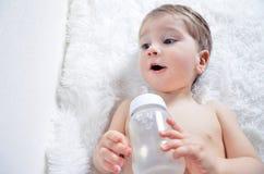 Retrato de um bebê bonito Imagem de Stock