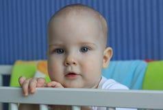 Retrato de um bebê de 11 meses Imagens de Stock Royalty Free