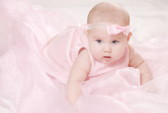 Retrato de um bebê pequeno Fotografia de Stock Royalty Free