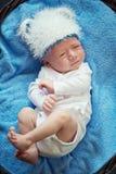Retrato de um bebê pequeno bonito. Imagens de Stock Royalty Free