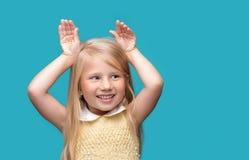 Retrato de um bebê que sorria Fotos de Stock Royalty Free
