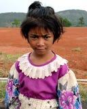 Retrato de um bebê tribal de Khasi fotos de stock royalty free