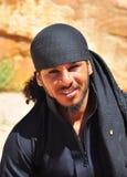 Retrato de um beduíno jordano foto de stock royalty free