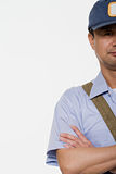 Retrato de um carteiro imagem de stock royalty free