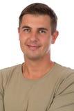 Retrato de um close up atrativo do homem das pessoas de 37 anos Imagem de Stock Royalty Free