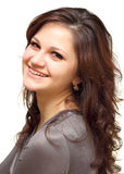 Retrato de um close up de sorriso da menina Fotografia de Stock Royalty Free