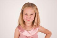 Retrato de um close up irritado da menina Fotografia de Stock Royalty Free