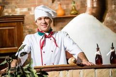 Retrato de um cozinheiro Imagens de Stock